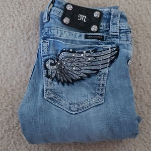MISS ME Boot Cut Bling Jeans